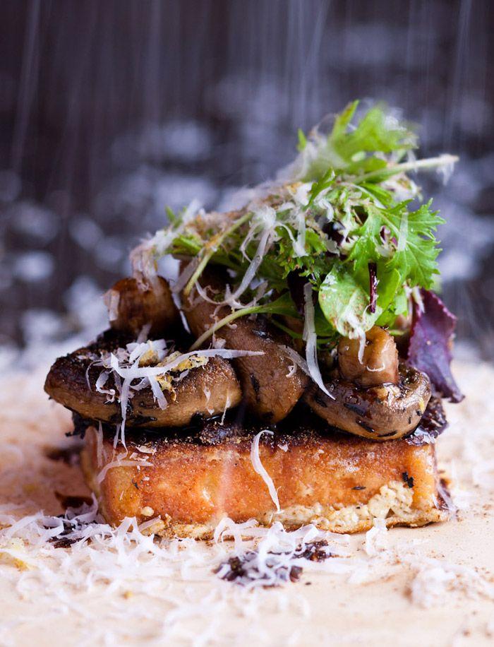 Pot Luck Club, next to The Test Kitchen at The Boscuit Mill - Mushrooms on toast, grated lemon, parmesan porcini dust