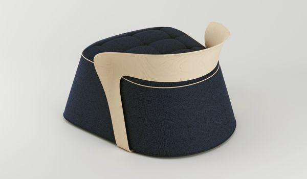 POUF & Chair by PEDRO SOUSA, via Behance