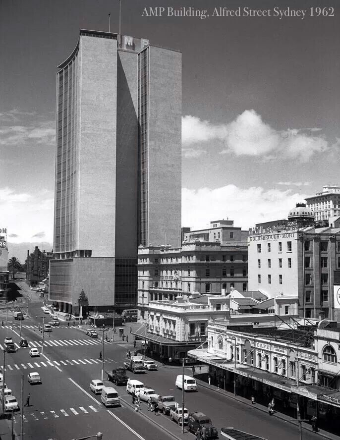 AMP Building,Alfred St,Sydney in 1962.  I remember taking the lift right to the top & looking out over the city.
