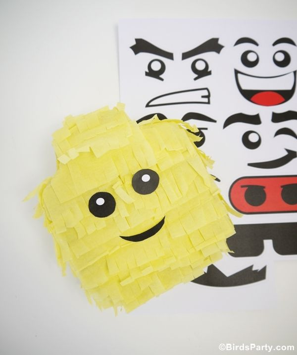 Lego Inspired Party : How To Make a Lego Head Pinata plus a Blog Hop  by Bird's Party