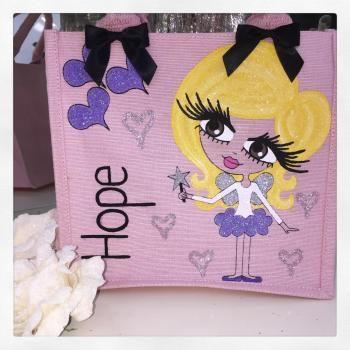 HunniBunni Hope Little Miss Fairy Personalised Mini Juco Bag