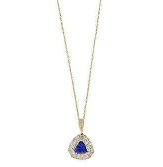 Effy 14K Yellow Gold Diamond Tanzanite Pendant