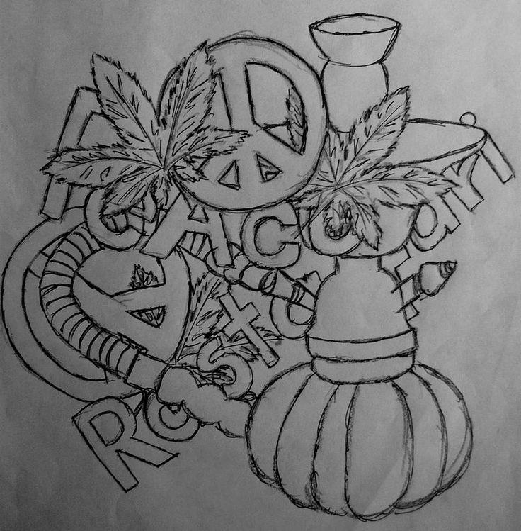 Smoke weed smoke shisha rasta legalize drawing for Rasta coloring pages