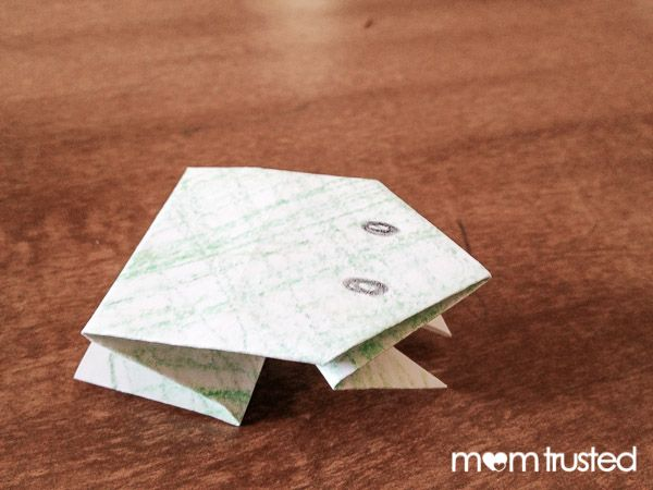 Origami for Kids: Jumping Paper Frogs