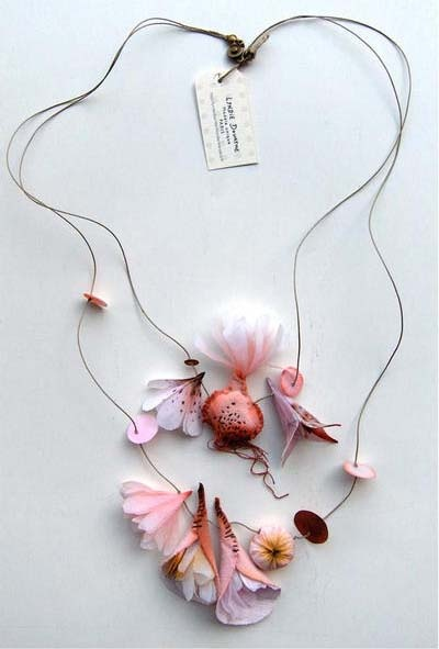paper and fabric floral pieces by French artist Lyndie Dourthe.