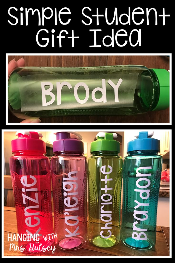 Simple, quick, and cheap student gift idea-- perfect for the end of the year, Christmas, or birthday!
