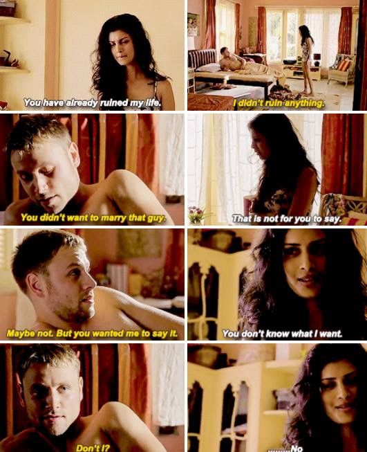 Sense8. Wolfgang and Kala.