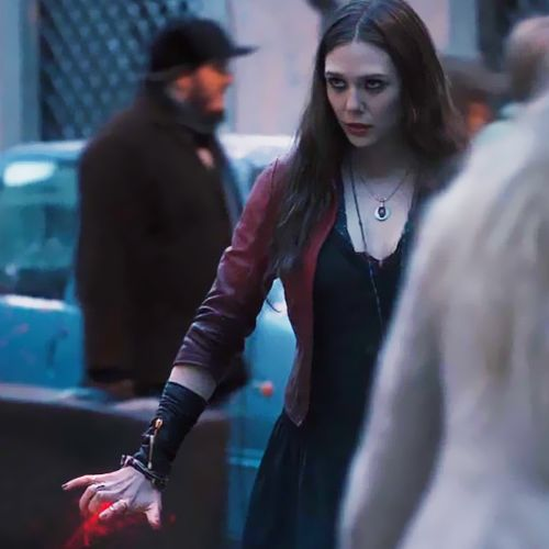 Her powers have not only made her strong for good but for bad . She knows when to use them and when to back off . ( yes I know this is scarlet with don't get mad )