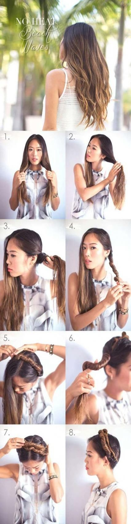 16 super Ideas hairstyles wavy medium hair tutorials beachy waves