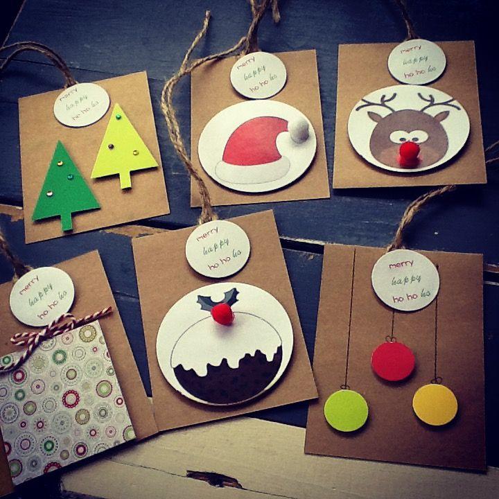 Handmade Christmas Gift Tags - pack of 6
