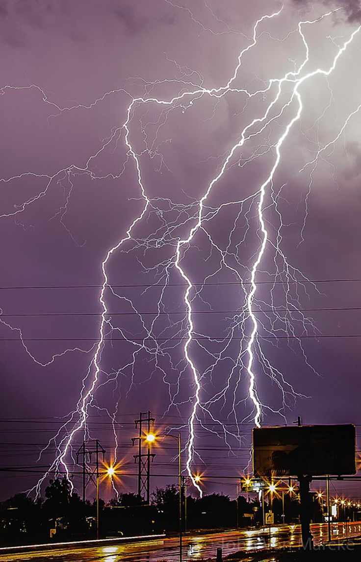 A huge thunderstorm with a lot of powerful lightning during the storm of 2014 (San Angelo, New Mexico).