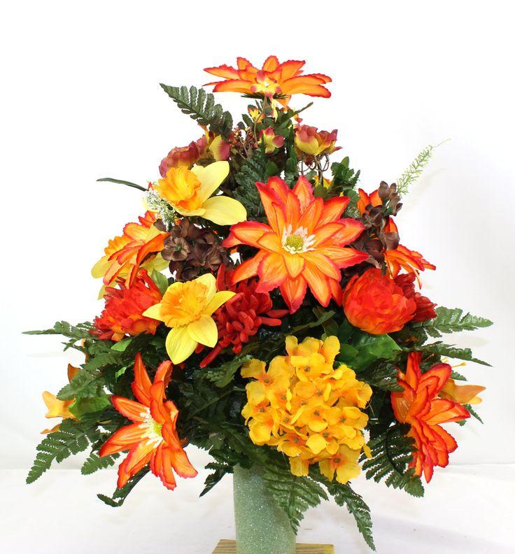 22 best fall cemetery flower arrangements images on Fall floral arrangements