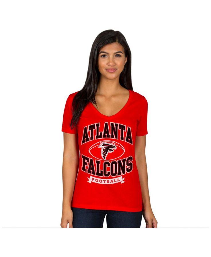 Authentic Nfl Apparel Women's Atlanta Falcons Football Logo T-Shirt