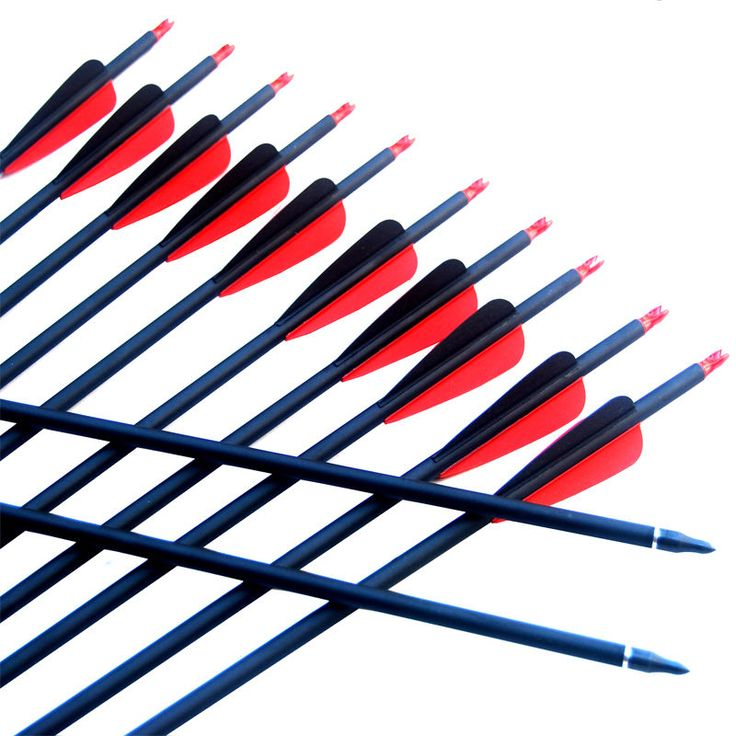 Archery Hunting  30   Red And black Carbon Arrows Screw Tips Spine 500 | eBay
