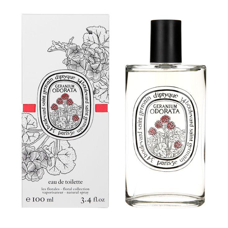 "colette DIPTYQUE Eau de toilette ""Geranium Odorata""- bergamot pink peppercorn cedar bright fresh crisp"