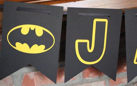 Batman personalizado Banner Batman cumpleaños por TheJoyfulHauss