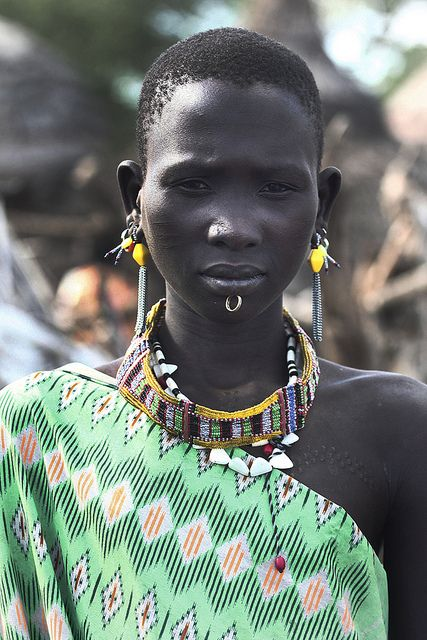 Lovely lady in South Sudan.