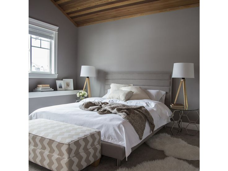 Skyler bed available in custom fabric and various sizes through Wind Grove Interiors