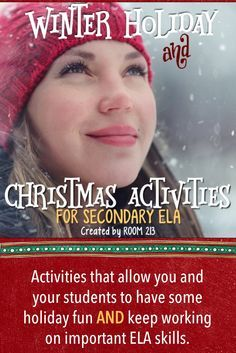 Middle school and high school English teachers: these activities and assignments are easy to implement into your curriculum in the days before your break. Activities for poetry, debate, research and writing.