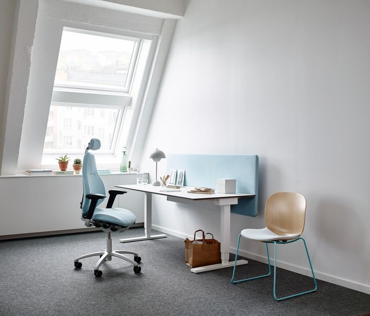 RH Mereo is easily fitted to meet your individual needs. An easy adjustment is all it takes #InspireGreatWork #design #Scandinavian #chair #homeoffice