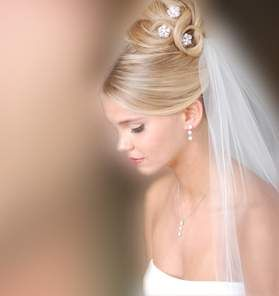 peinados para novias con velos