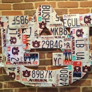 Auburn license plate art. ~ Check this out too ~ RollTideWarEagle.com sports stories that inform and entertain and Train Deck to learn the rules of the game you love. #Collegefootball Let us know what you think. #Auburn #WarEagle