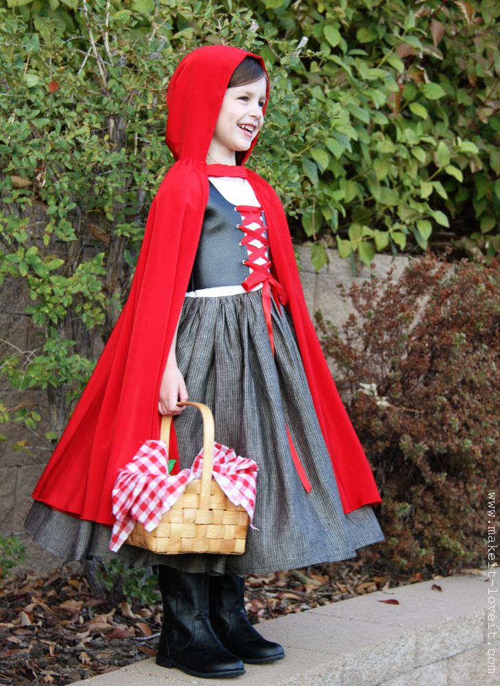 Red Riding Hood Costume DIY Tutorial - Make it and love it