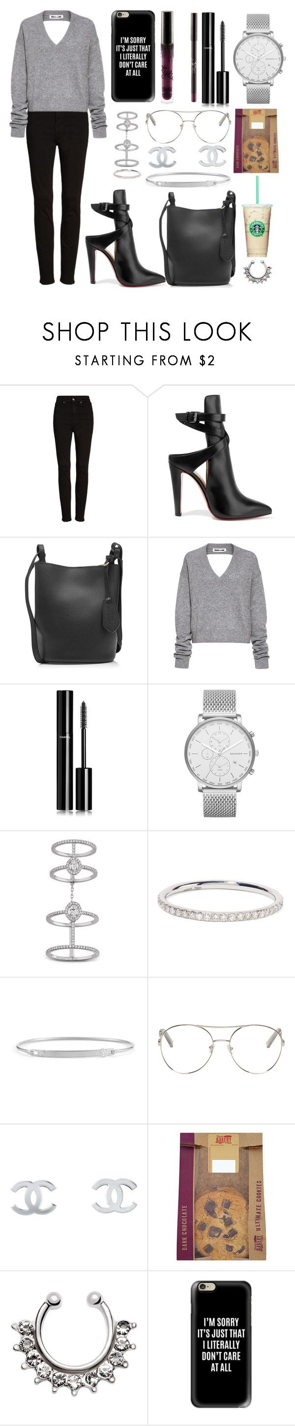 """Literally"" by letiziiacuschieri-i ❤ liked on Polyvore featuring Good American, Christian Louboutin, Burberry, McQ by Alexander McQueen, Chanel, Skagen, Messika, Ileana Makri, Forevermark and Chloé"