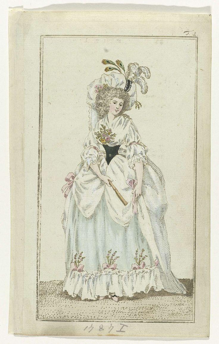Journal des Luxus und der moden, Weimar 1787, Nr. T.1., anoniem, A.B. Duhamel, Mitan, 1787