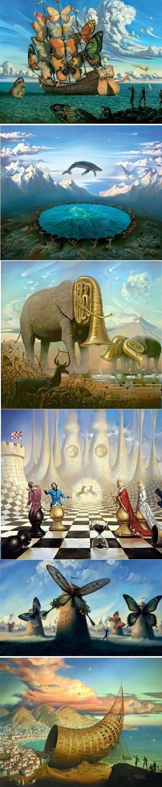 Landschaftsmalerei surrealismus  Die 25+ besten surreale Kunst Ideen auf Pinterest ...