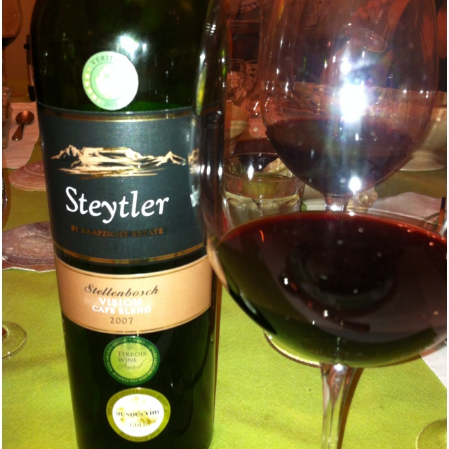 Steytler Vision 2007, from Kaapzicht Wine Estate in South Africa.