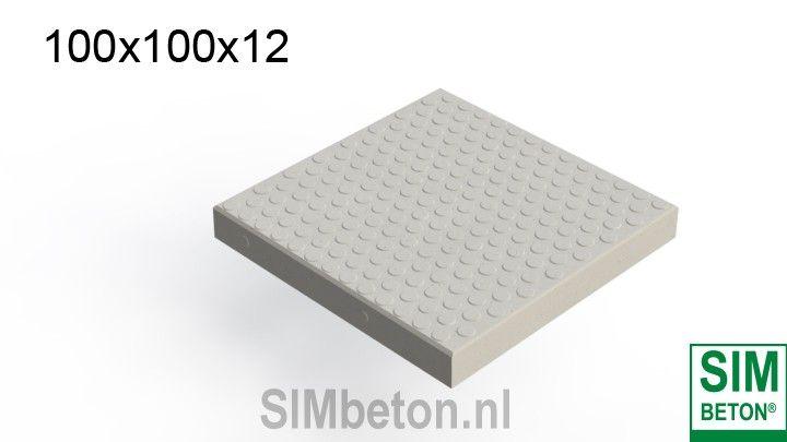 SIMnop | Antislip betonplaten met een noppen profiel | SIMbeton
