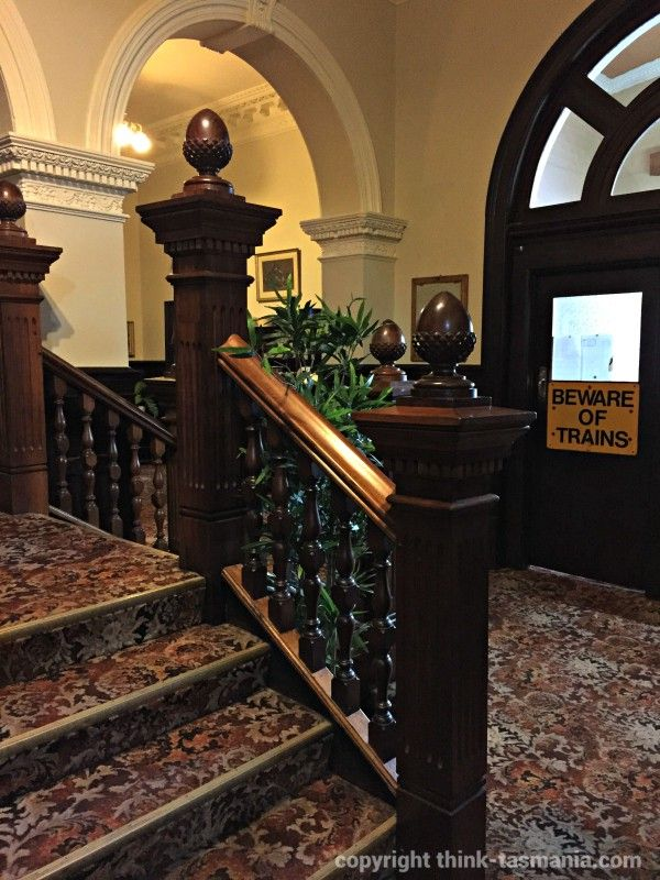 National Trust staircase at the Empire Hotel #Queenstown #Tasmania Photo and article for think-tasmania.com