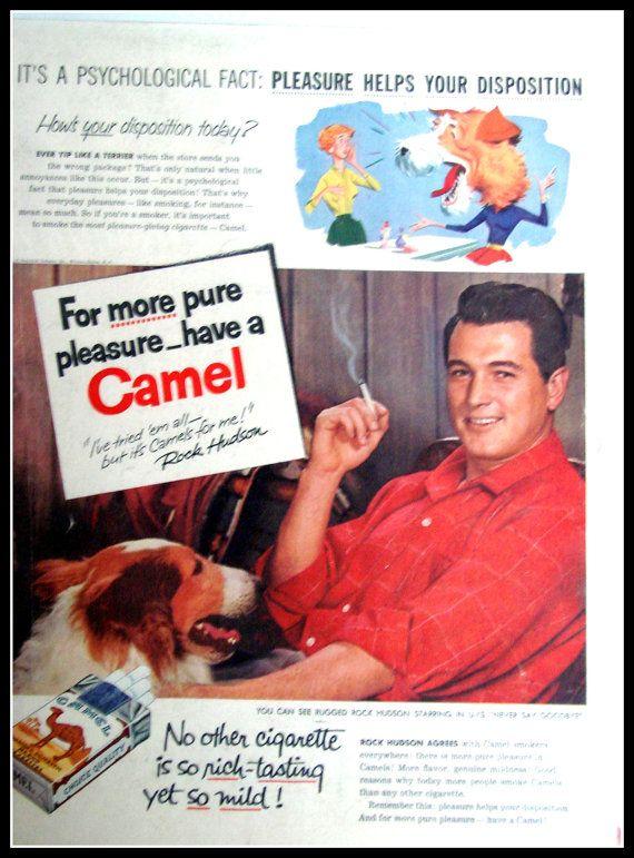 CAMEL WITH ROCK HUDSON....