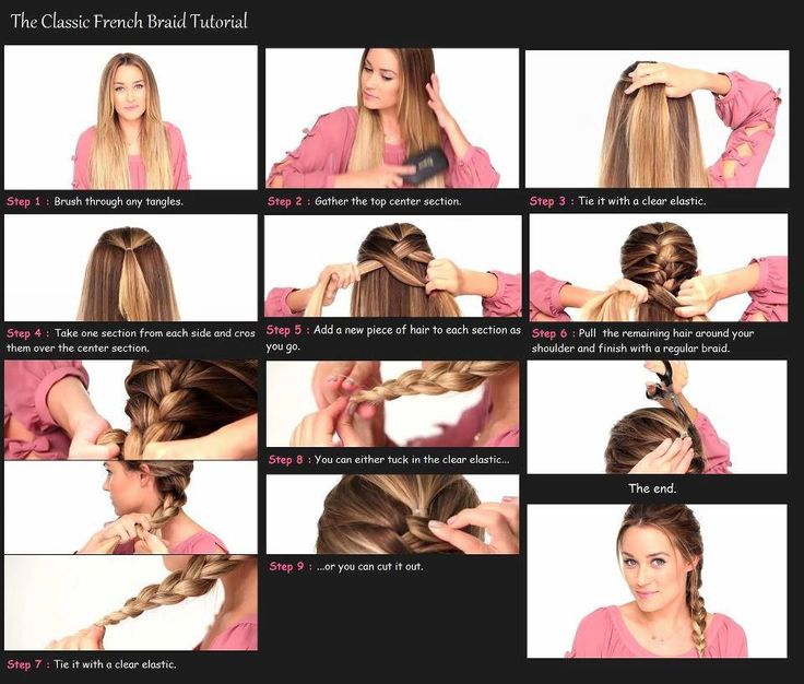 Easy French Braid Tutorial ♥ Maybe I can finally learn how to do this ;)
