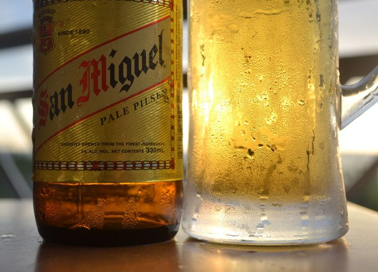 Light premium Beer. Best Beer in Asia - Beer Heaven in Philippines - San Miguel Pale Pilsen - The perfect match for Filipino food. For full blog on Beers in the Philippines check here: http://live-less-ordinary.com/asia-travel/best-beer-in-asia-philippines-san-miguel