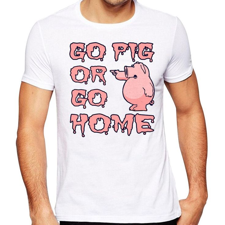 Men's 2017 Funny Go Pig Or Go Home Design T Shirt High Quality Cool Tops Hipster Summer Tees //Price: $13.95 & FREE Shipping //     #hashtag2