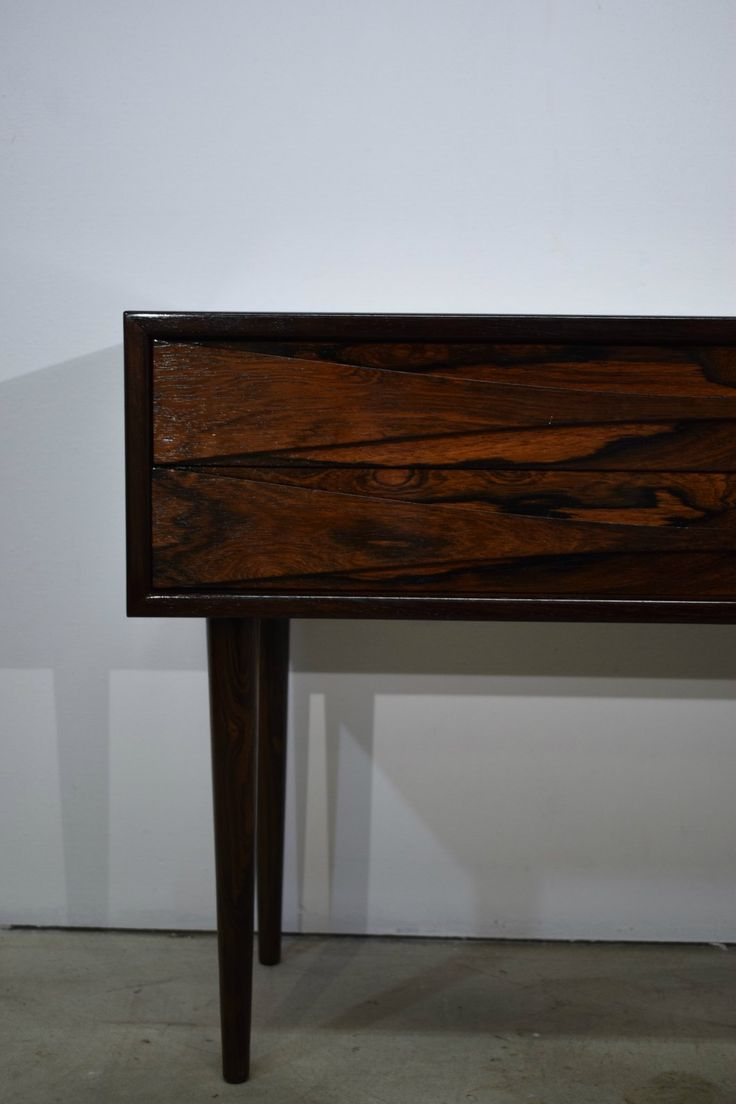 Danish mid century rosewood dresser with two drawers, NC Møbler Odense