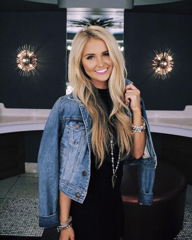 Denim and black with layered jewelry || Nashville blogger || insta @SheaLeighMills