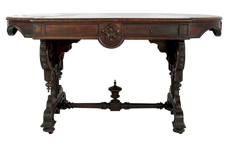 Antique English Walnut Table $1,625.00
