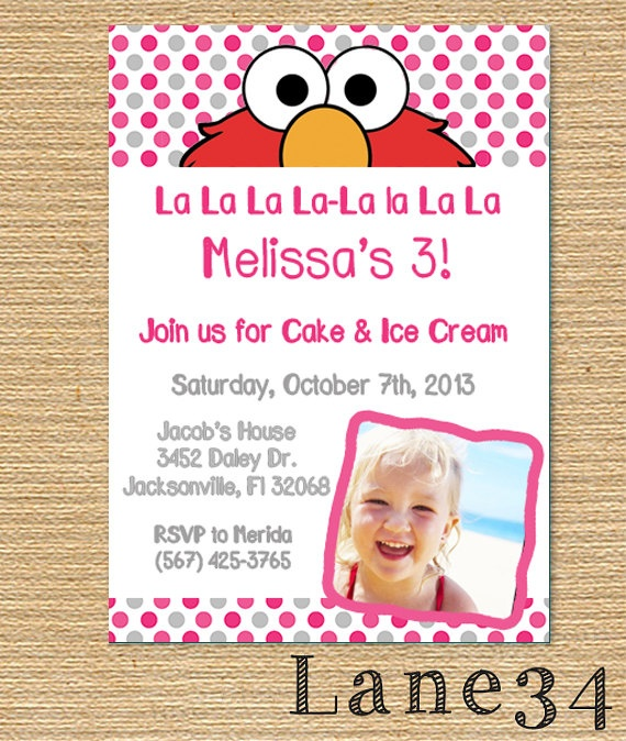 23 best Elmo 1st Birthday Girl Party images – Homemade Elmo Birthday Invitations