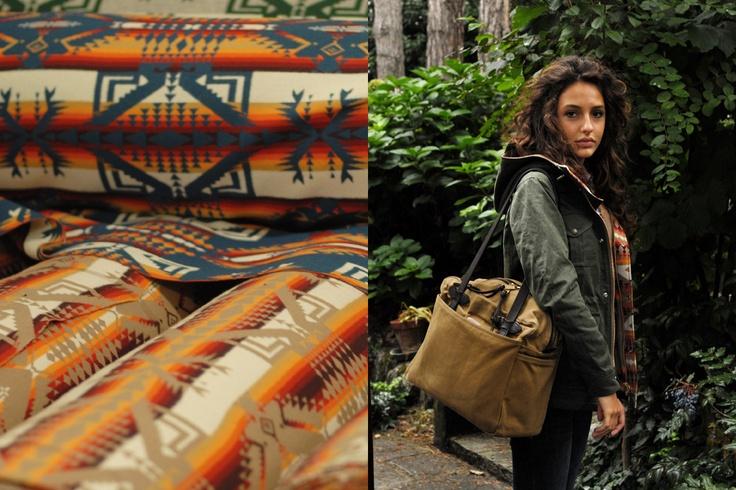 Filson native pattern wool lining inside Fisherman parkas: STYLE 2946 - WX (MEN) 8952w - WX (WOMEN)