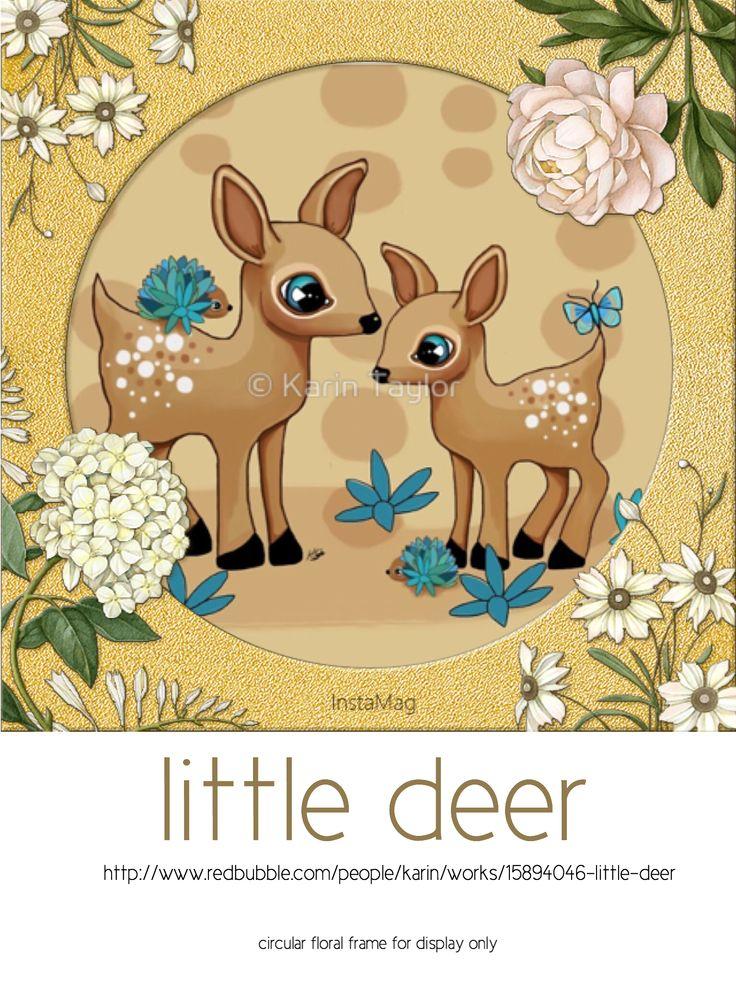 Little Deer prints and cards http://www.redbubble.com/people/karin/works/15894046-little-deer