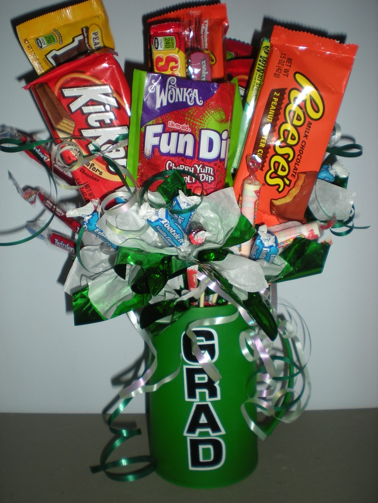 Graduation Candy Centerpiece Ideas : Candy bouquet for graduation kindergarten
