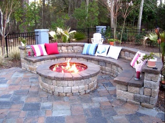 26 best fire pits images on pinterest | patio ideas, garden ideas ... - Patio Ideas With Firepit