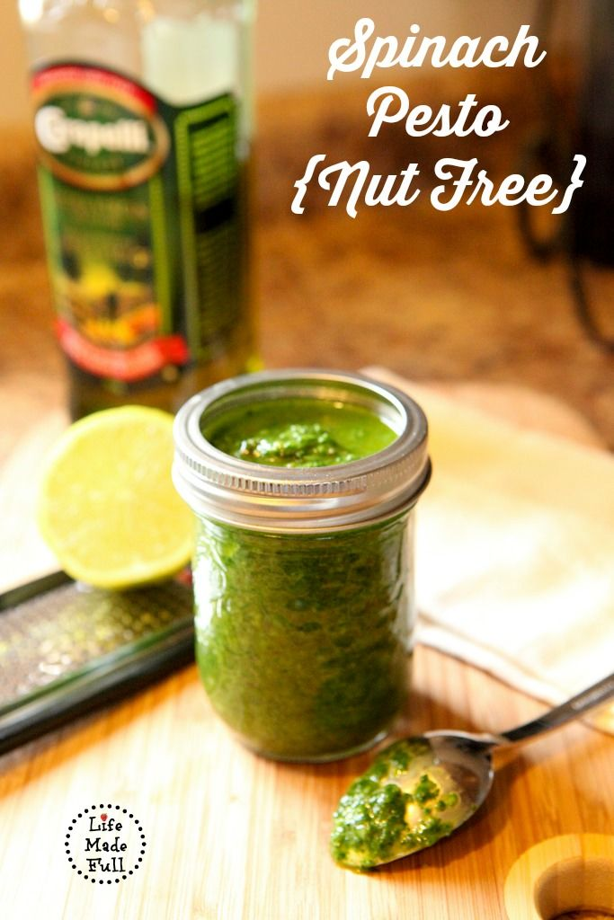 Spinach Pesto { nut free} - Life Made Full www.lifemadefull.com