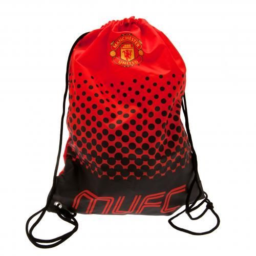 Practical and stylish looking Manchester United drawstring gym bag in club colours and featuring the club crest. FREE DELIVERY ON ALL MAN UNITED GIFTS