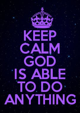 GOD IS ABLE TO DO ANYTHING When we pray ask God to help us raise a garden to feed others, we glorify Him...