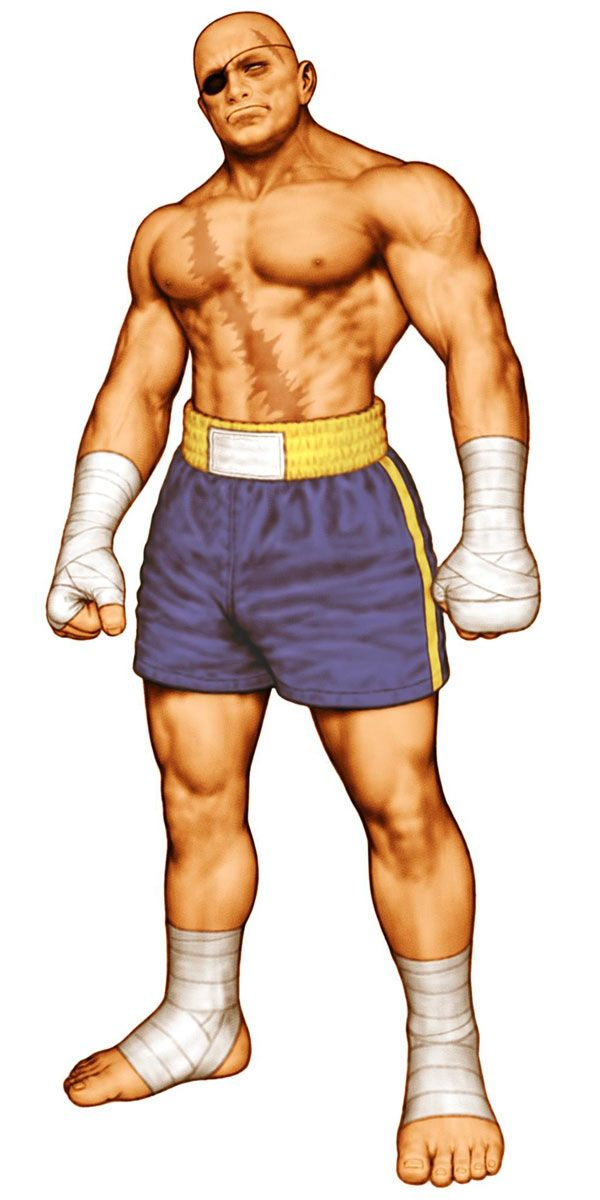 Sagat street fighter pictures characters art capcom vs