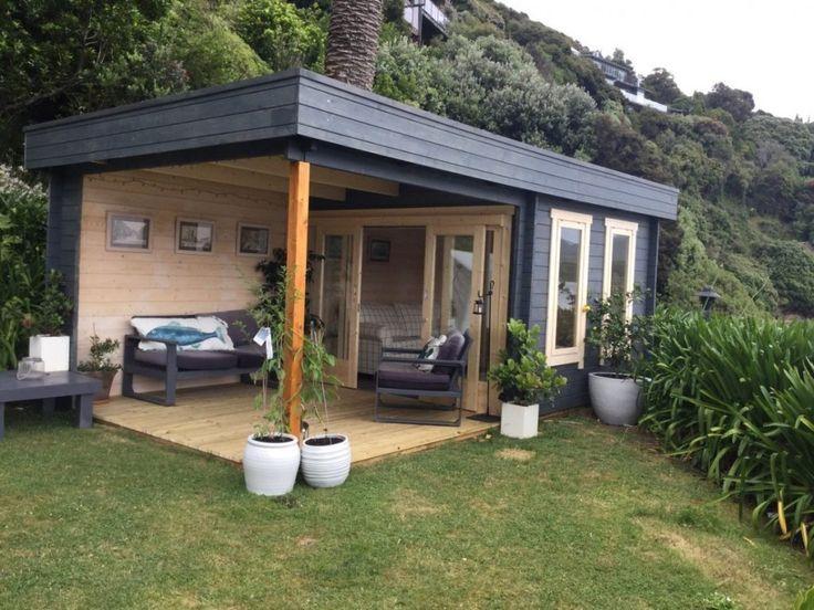 Modernes Gartenhaus mit Terrasse Lucas E 9m² / 44mm / 3x6